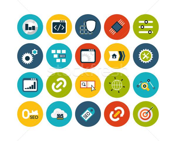 22 seo desenvolvimento coleção internet Foto stock © sidmay