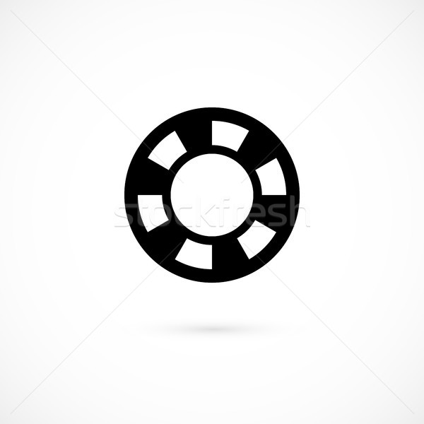 Casino chip icon isolated on white background Stock photo © sidmay