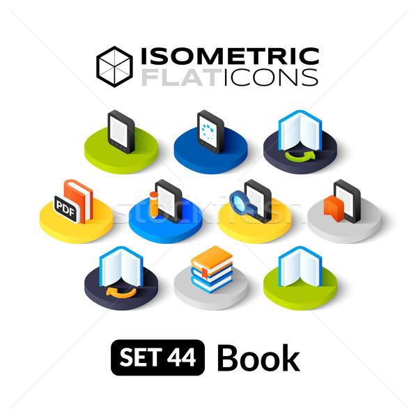Isometric flat icons set 44 Stock photo © sidmay