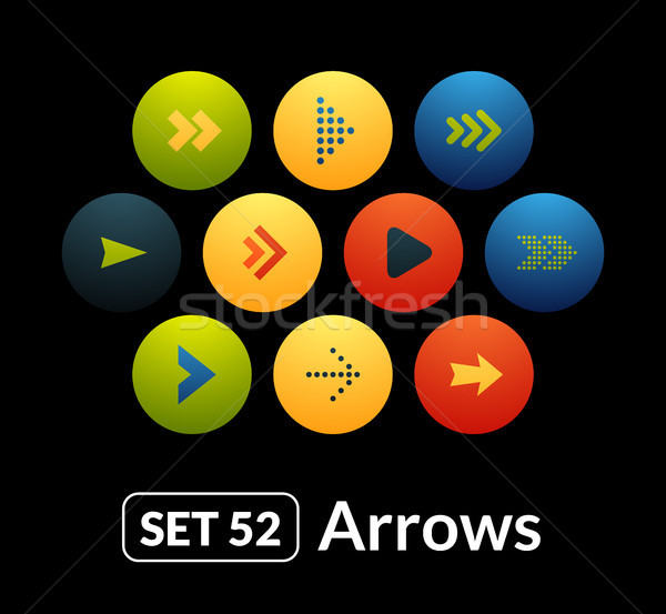 Flat icons vector set 52 - signs arrows Stock photo © sidmay