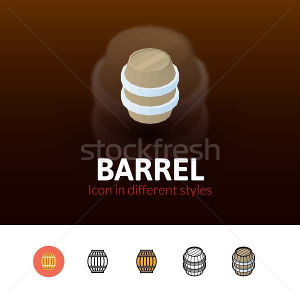 Barrel icon in different style Stock photo © sidmay
