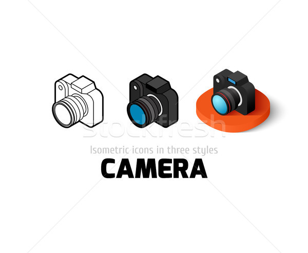 Stock fotó: Kamera · ikon · különböző · stílus · vektor · szimbólum