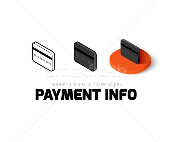 Pagamento informações ícone diferente estilo vetor Foto stock © sidmay