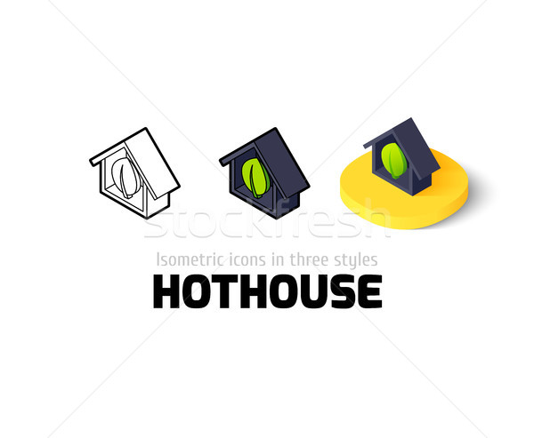 Hothouse icon in different style Stock photo © sidmay