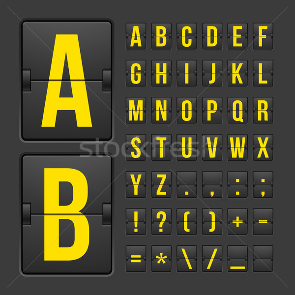 Scoreboard letters and symbols alphabet panel Stock photo © sidmay
