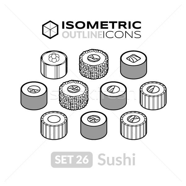 Isométrica 26 ícones 3D Foto stock © sidmay