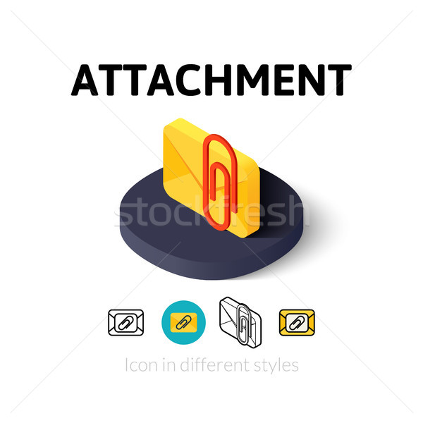 Attachment icon in different style Stock photo © sidmay