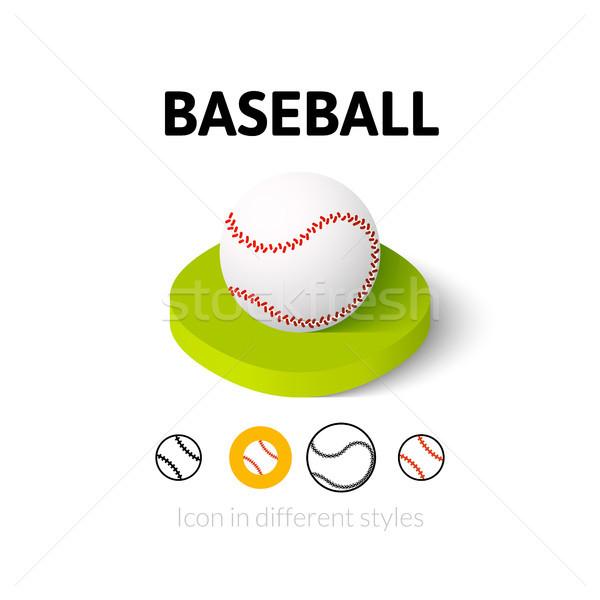 Baseball ikona inny stylu wektora symbol Zdjęcia stock © sidmay