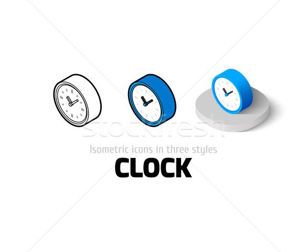 Klok icon verschillend stijl vector symbool Stockfoto © sidmay
