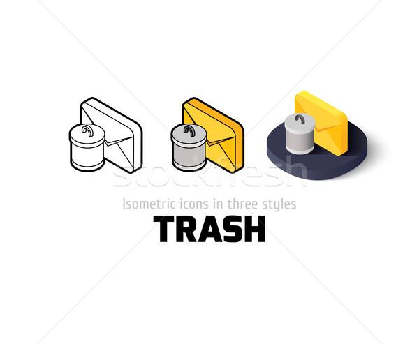 мусор икона различный стиль вектора символ Сток-фото © sidmay