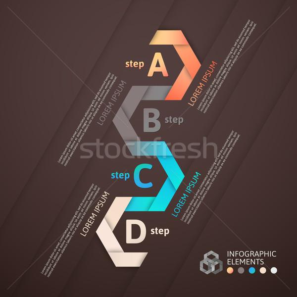 ストックフォト: 現代 · ビジネス · ステップ · 折り紙 · スタイル · オプション