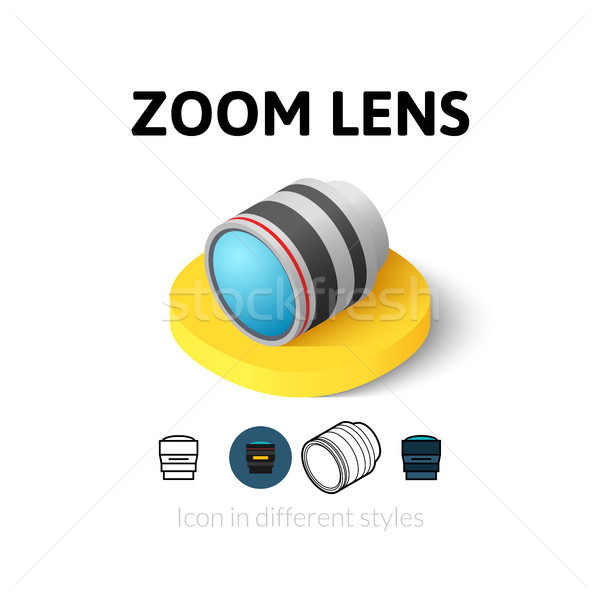 Zoom lens icon in different style Stock photo © sidmay