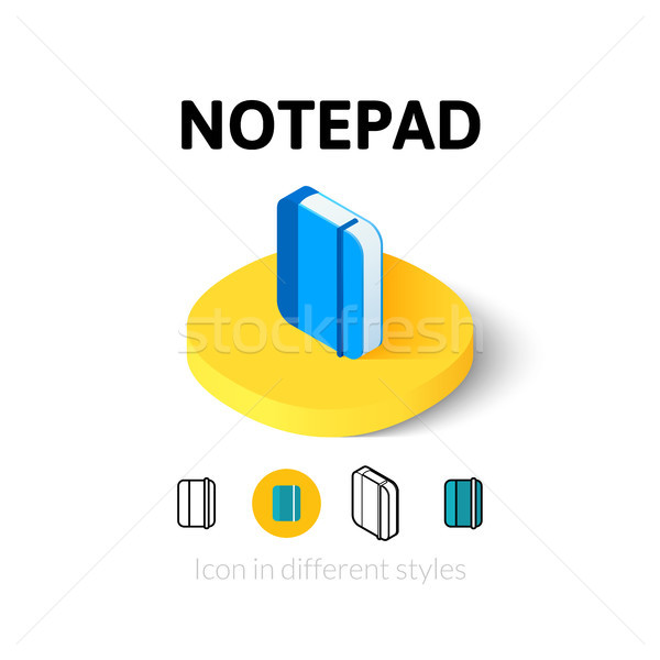 Notepad icon in different style Stock photo © sidmay