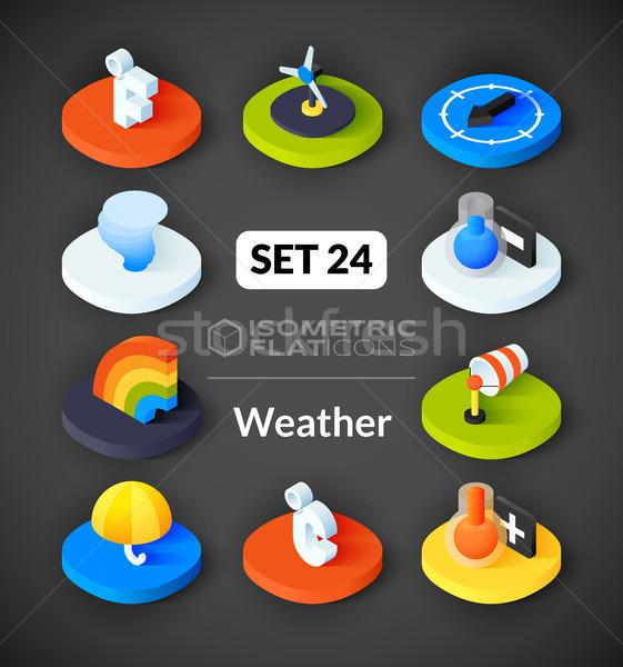 Isometric flat icons set 24 Stock photo © sidmay
