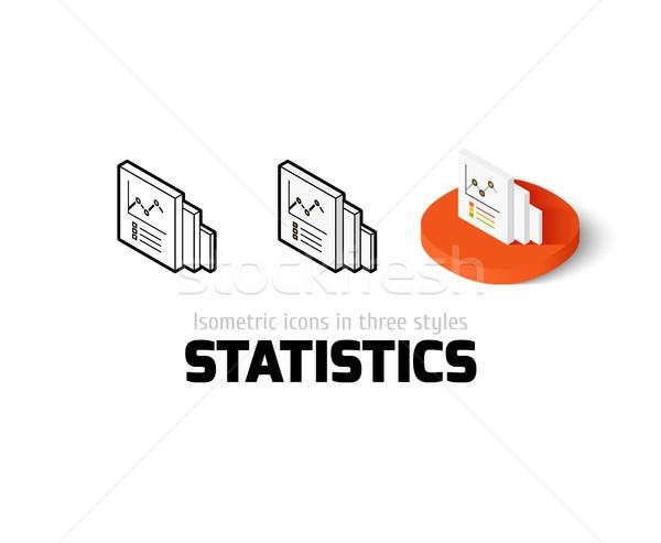 Photo stock: Statistiques · icône · différent · style · vecteur · symbole