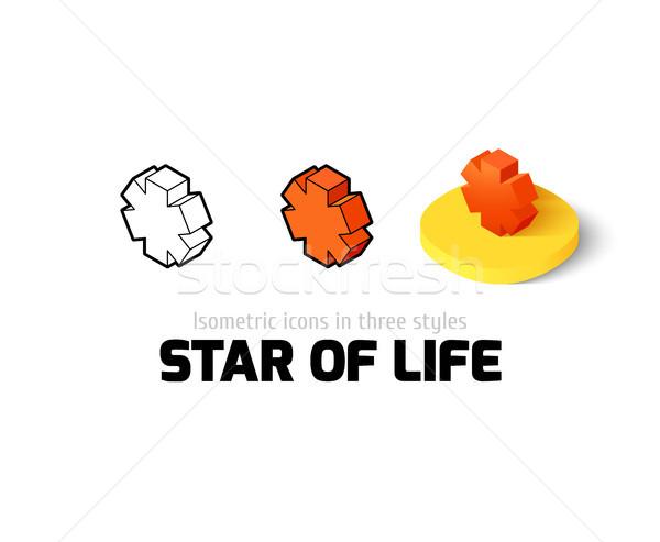 звездой жизни икона различный стиль вектора Сток-фото © sidmay