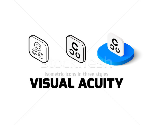 Visual acuity icon in different style Stock photo © sidmay