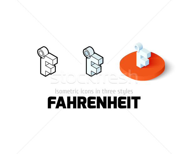 Fahrenheit icon in different style Stock photo © sidmay