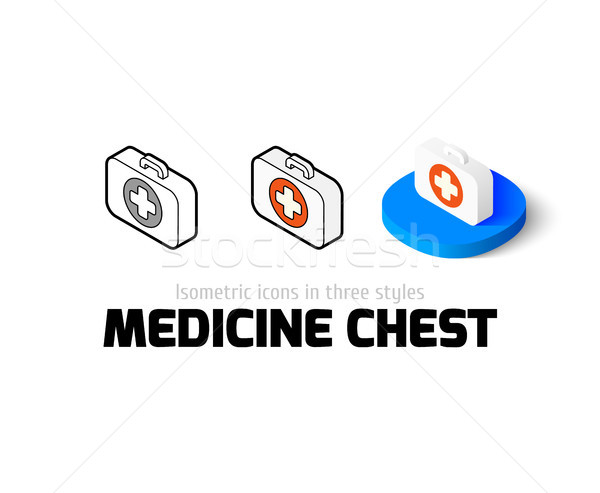 Medicine chest icon in different style Stock photo © sidmay