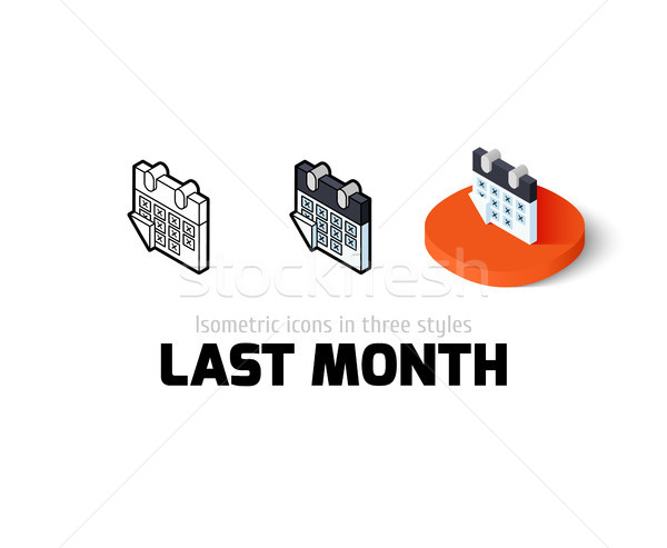 Last month icon in different style Stock photo © sidmay
