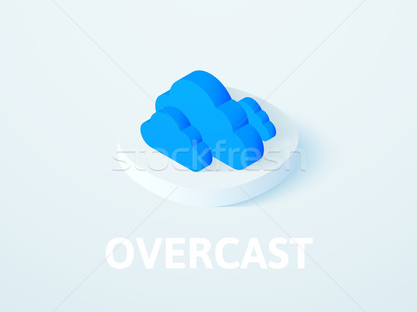 Overcast isometric icon, isolated on color background Stock photo © sidmay