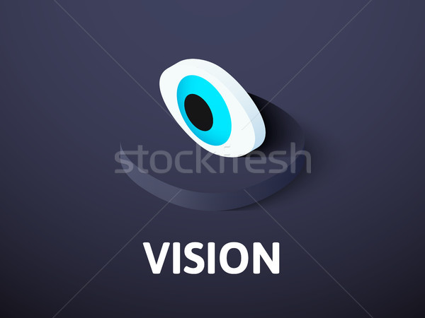 Vision isometric icon, isolated on color background Stock photo © sidmay