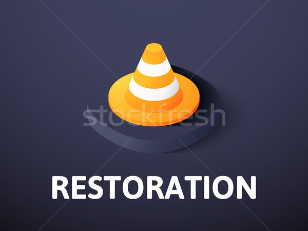 Restoration isometric icon, isolated on color background Stock photo © sidmay