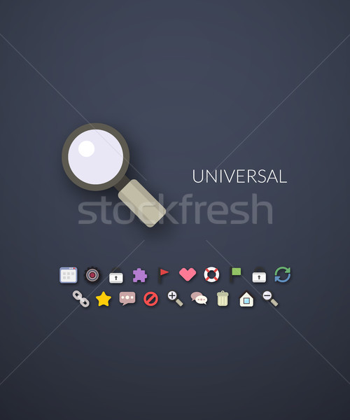 Flat design modern of brand identity style Stock photo © sidmay