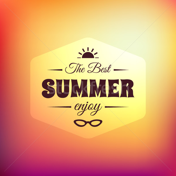 Retro styled summer calligraphic design card Stock photo © sidmay