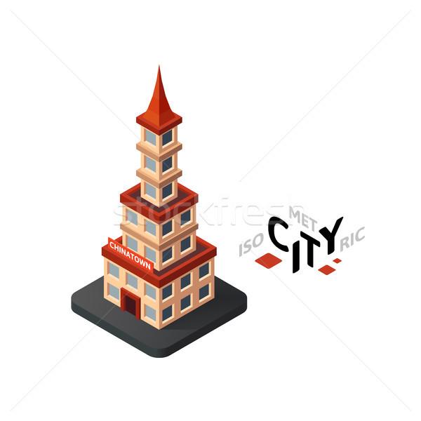 Isometrica icona costruzione città infografica elemento Foto d'archivio © sidmay