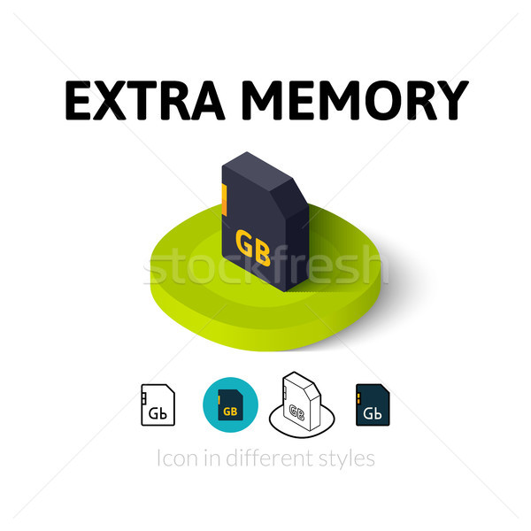 дополнительно память икона различный стиль вектора Сток-фото © sidmay