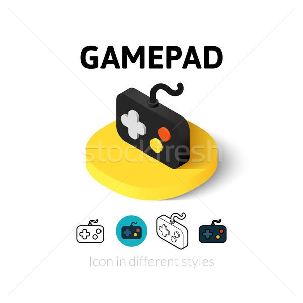 Gamepad icona diverso stile vettore simbolo Foto d'archivio © sidmay