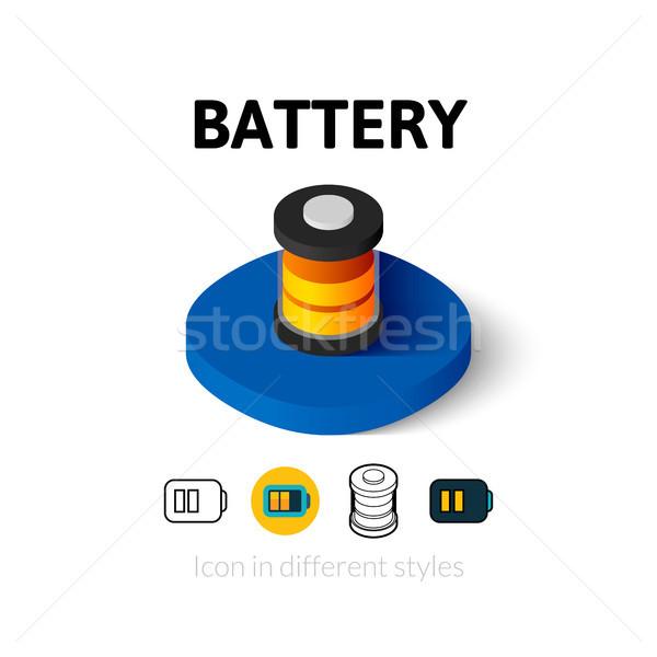 Batteria icona diverso stile vettore simbolo Foto d'archivio © sidmay