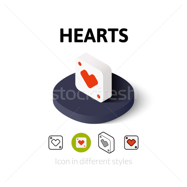 Hearts icon in different style Stock photo © sidmay