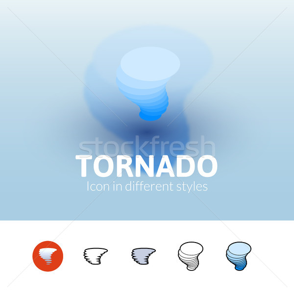 Tornado icon in different style Stock photo © sidmay
