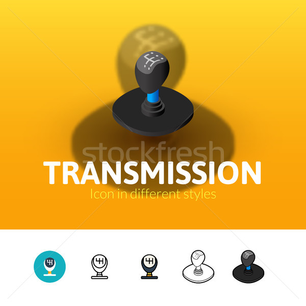 Transmission icon in different style Stock photo © sidmay
