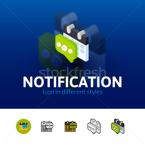 Notification icon in different style Stock photo © sidmay