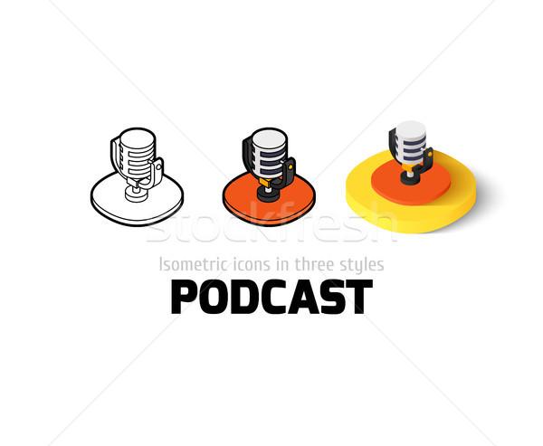 Podcast ícone diferente estilo vetor símbolo Foto stock © sidmay