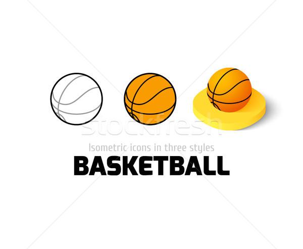 ストックフォト: バスケットボール · アイコン · 異なる · スタイル · ベクトル · シンボル