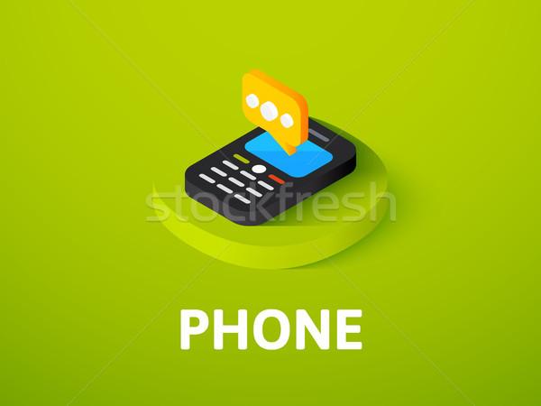 Telefon Symbol isoliert Farbe Vektor Stock foto © sidmay