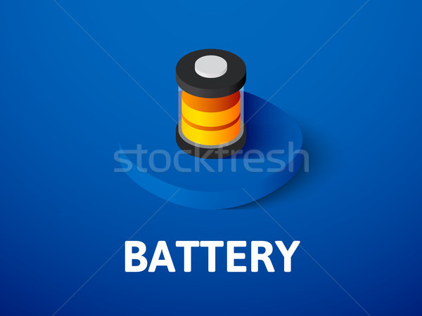 Batteria isometrica icona isolato colore vettore Foto d'archivio © sidmay