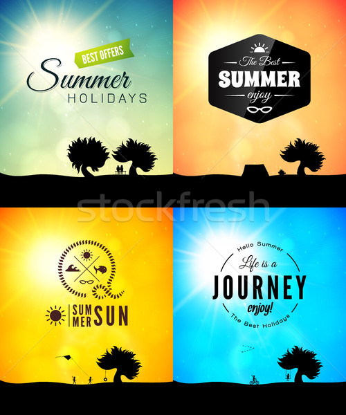 Poster summer theme, healthy life style Stock photo © sidmay