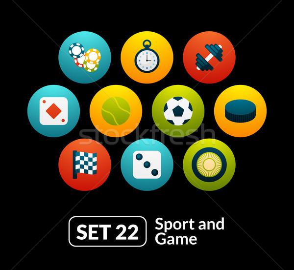 22 esportes jogo coleção telefone Foto stock © sidmay