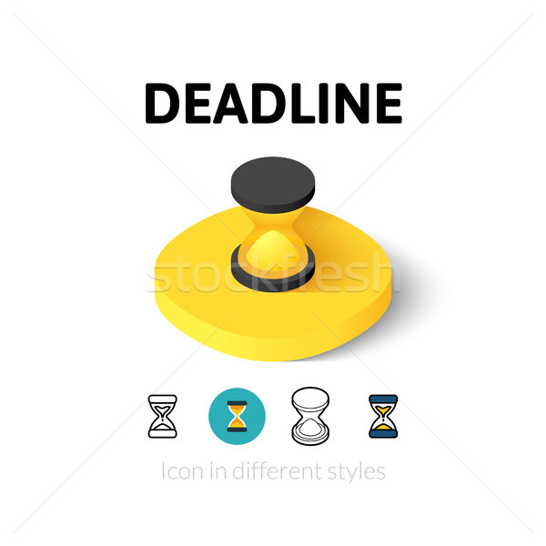 Deadline icon in different style Stock photo © sidmay