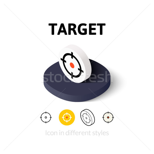Foto stock: Alvo · ícone · diferente · estilo · vetor · símbolo