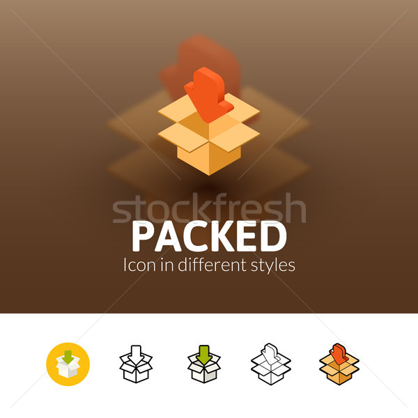Packed icon in different style Stock photo © sidmay
