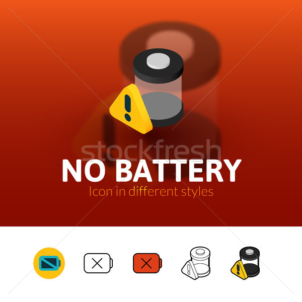 No battery icon in different style Stock photo © sidmay
