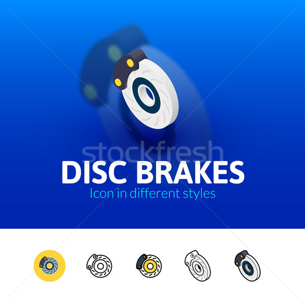 Disc brakes icon in different style Stock photo © sidmay