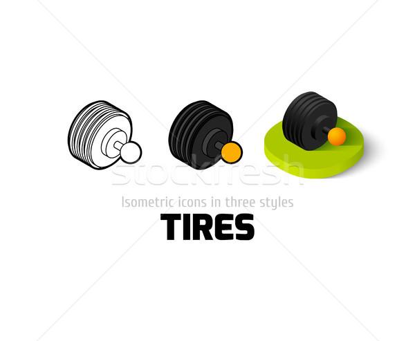 Foto stock: Neumáticos · icono · diferente · estilo · vector · símbolo