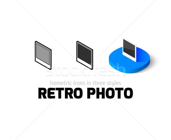 ретро фото икона различный стиль вектора Сток-фото © sidmay